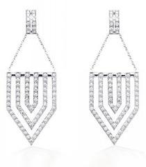 Diamond Chevron Earrings