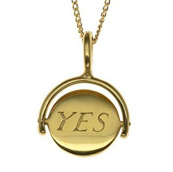 Yes No Choice Gold Plated Charm