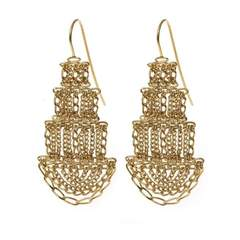 Large Gold Pagoda Earrings
