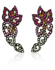 Venice Pulcinella Ruby Earrings