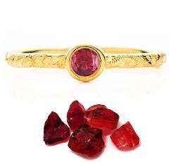 Hera Ruby Gold Engagement Ring