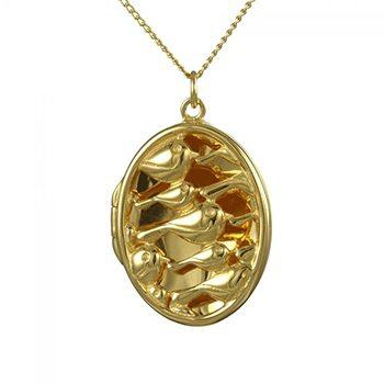 Golden Flock Locket