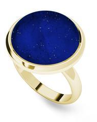 Lapis Lazuli Yellow Gold-Plate Cabochon Ring