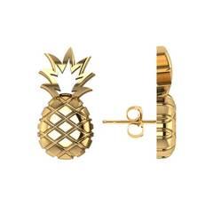 Yellow Gold Pineapple Fashion Stud Earrings | Allurez