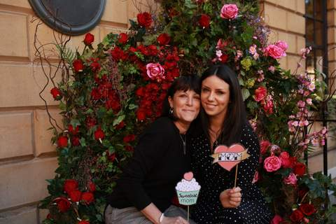 Kayleigh Pope and mum at JewelStreet Mother's Day Event
