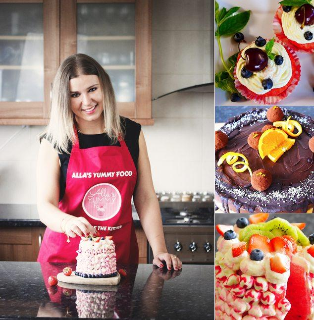 Alla specialises in making the most mouth-watering cakes and desserts.
