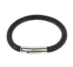 Sterling Silver Stingray Bracelet Black