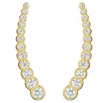 Diamond Ear Climber Earrings