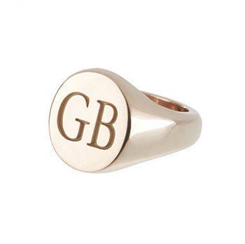 Customisable Oval 9kt Rose Gold Signet Ring