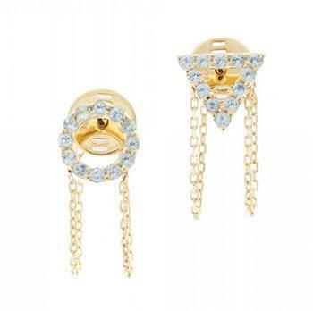 December Blue Topaz Earrings