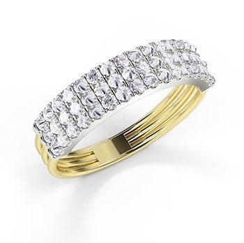 'Feel The Love' Secret Diamond Braille 6 Letter Ring