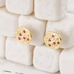 14kt Yellow Gold Ganga Earrings