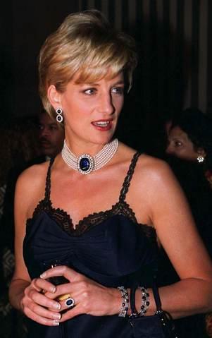 Princess Diana Pearl and Sapphire Collar