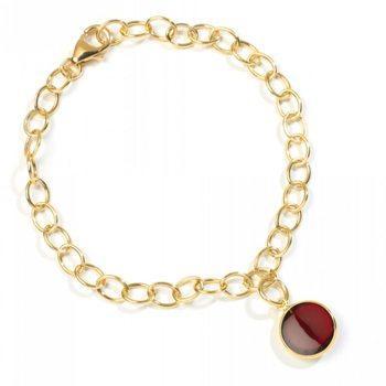 18kt Rhodolite Garnet Charm Bracelet