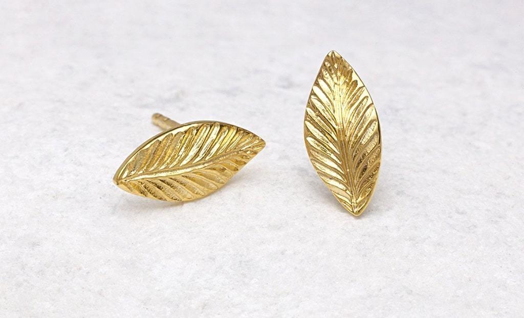 Portobello Gold Leaf Earrings