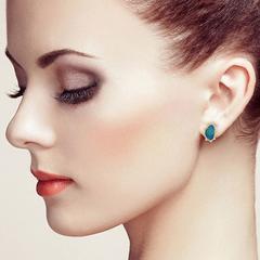 Majestic Opal Stud Earring