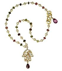 18ct Ruby Garnet Necklace