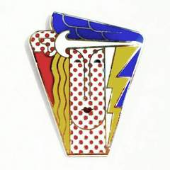 Roy Lichtenstein Brooch