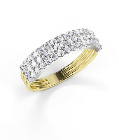 Yellow Gold 'Feel The Love' Secret Diamond Braille Ring