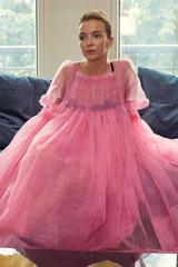 Killing Eve Molly Goddard pink tulle dress