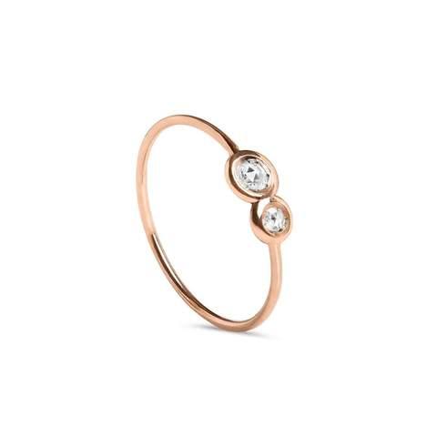 9kt Rose Gold Oro Rosa Diamanti Ring