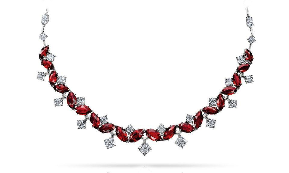 Ruby And Diamond Collar Necklace