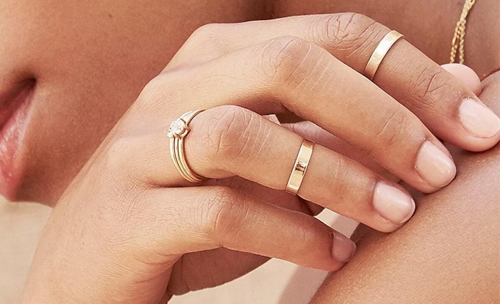 Yellow Gold Flat Stacking Ring