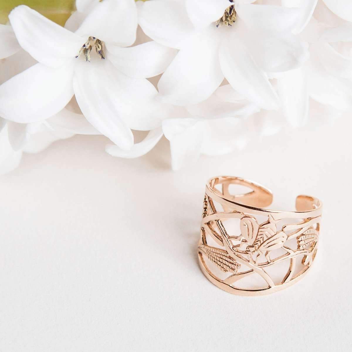 Rose Gold Mother Earth Ring | Tiny-Om