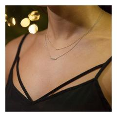 Diamond Bar White Gold Pendant