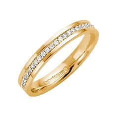 18kt Yellow Gold Round Diamond Eternity Wedding Ring