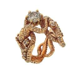 Diamonds Snake Ring