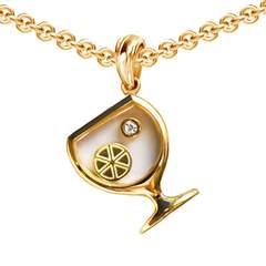 Gold Wineglass Secret Pendant