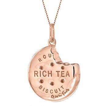 Rose Gold Rich Tea Biscuit Pendant
