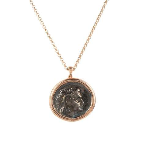 Latelita London Roman coin necklace