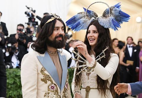 Alessandro Michele and Lana Del Rey at 2018 Met Gala