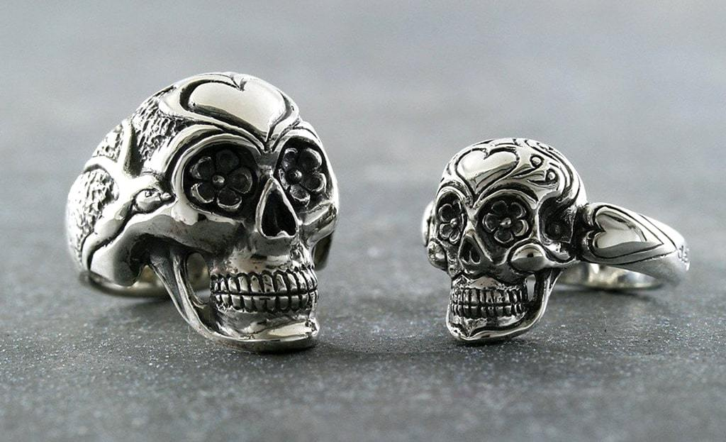 Sugar Skull Ring, Large