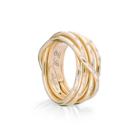 18kt Yellow Gold Leda Oro Giallo Diamanti Ring £2,884.00