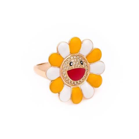18kt Yellow Gold & Enamel Happy Daisy Ring £1,134.00