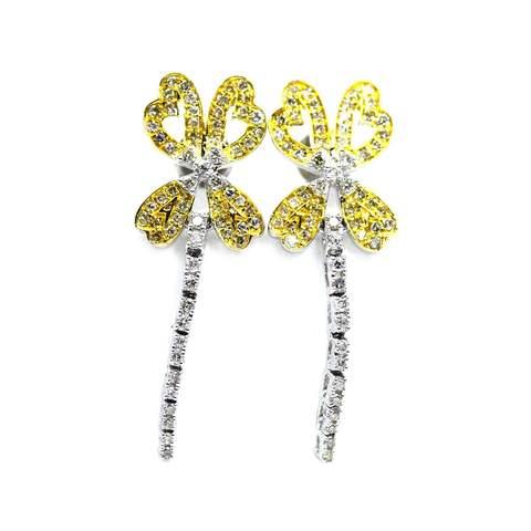 18kt White Gold Butterfly Diamond Dangler Earrings £1,093.00