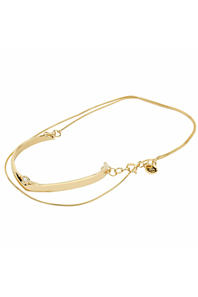 14kt Yellow Gold Plated Sterling Silver Rose Quartz Unlimited Simple Bracelet