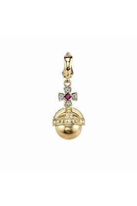 Orb Charm With Diamonds And Rubies