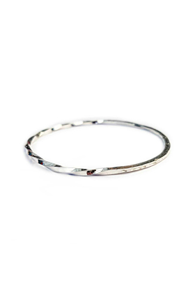 Sterling Silver Two In One Bangle