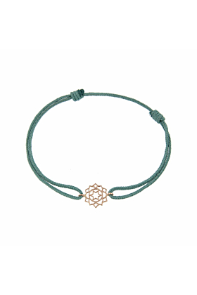 Rose Gold & Thread Anahata Bracelet | Tiny-Om