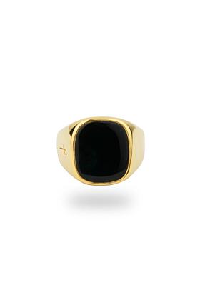 Jamestown Black Onyx Gold Ring