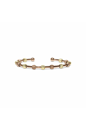 Laurel Rose Gold and Gold Two-Tone Bracelet