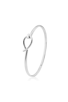 Sterling Silver Boltons Tear Drop Bangle