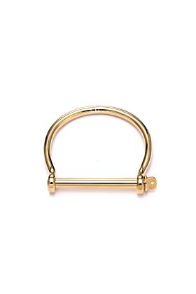 Gold XL Screw Cuff Bracelet