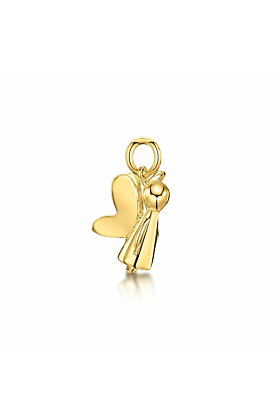 Yellow Gold Guardian Angel Charm | Becky Rowe