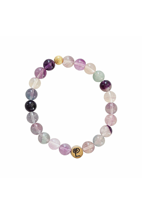 Healing Purple Banded Fluorite Bangle