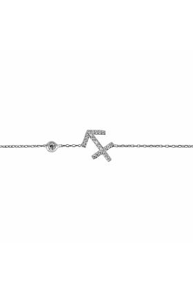 Sagittarius Zodiac Bracelet Silver